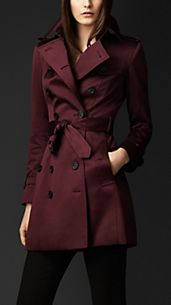 Trench coat in satin di cotone