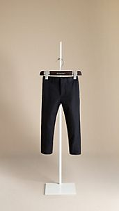 Tailored Cotton Gabardine Trousers