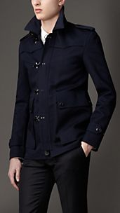 Toggle Closure Cotton Twill Jacket