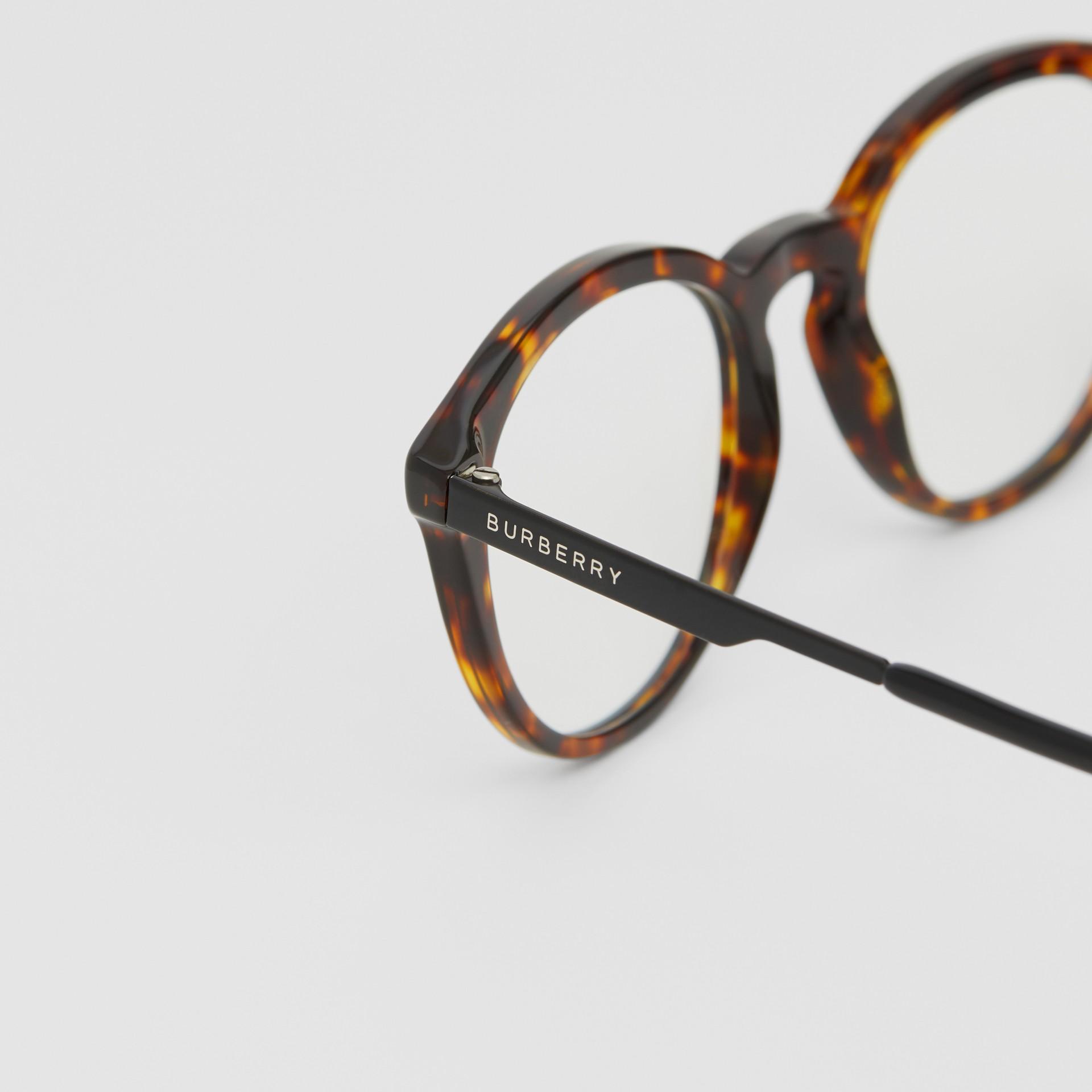 Round Optical Frames in Tortoiseshell - Men | Burberry - gallery image 1