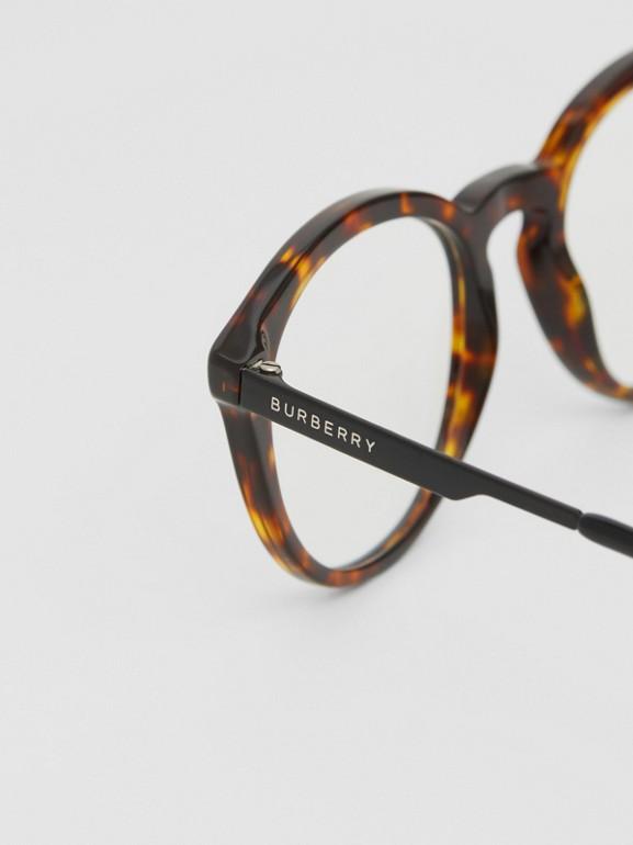 Round Optical Frames in Tortoiseshell - Men | Burberry - cell image 1