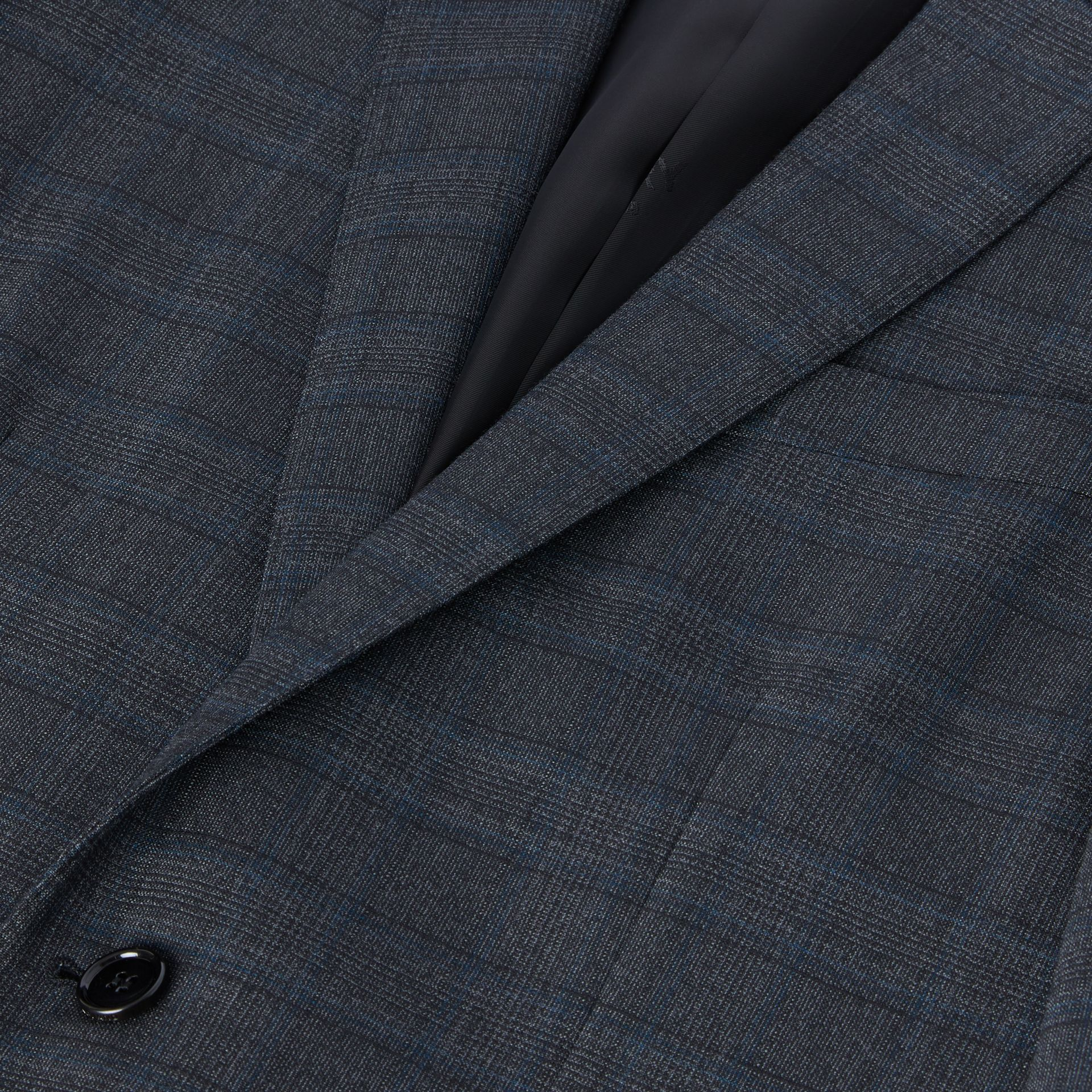 English Fit Check Wool Suit in Steel Blue | Burberry - gallery image 8