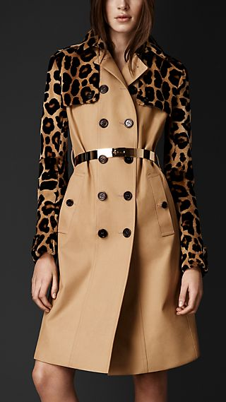 Mink Gabardine Trench Coat