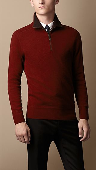 Double-Faced Cashmere-Blend Sweater