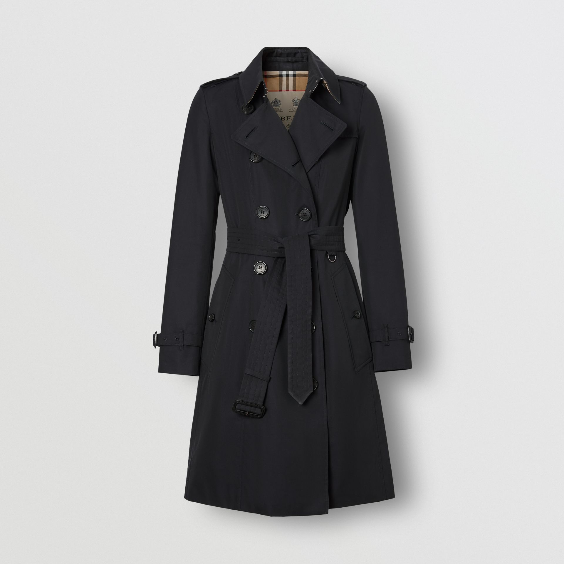Trench coat Heritage The Chelsea medio (Blu Notte) - Donna | Burberry - immagine della galleria 9