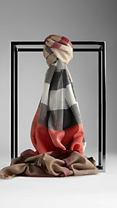 Check Colour Stripe Scarf