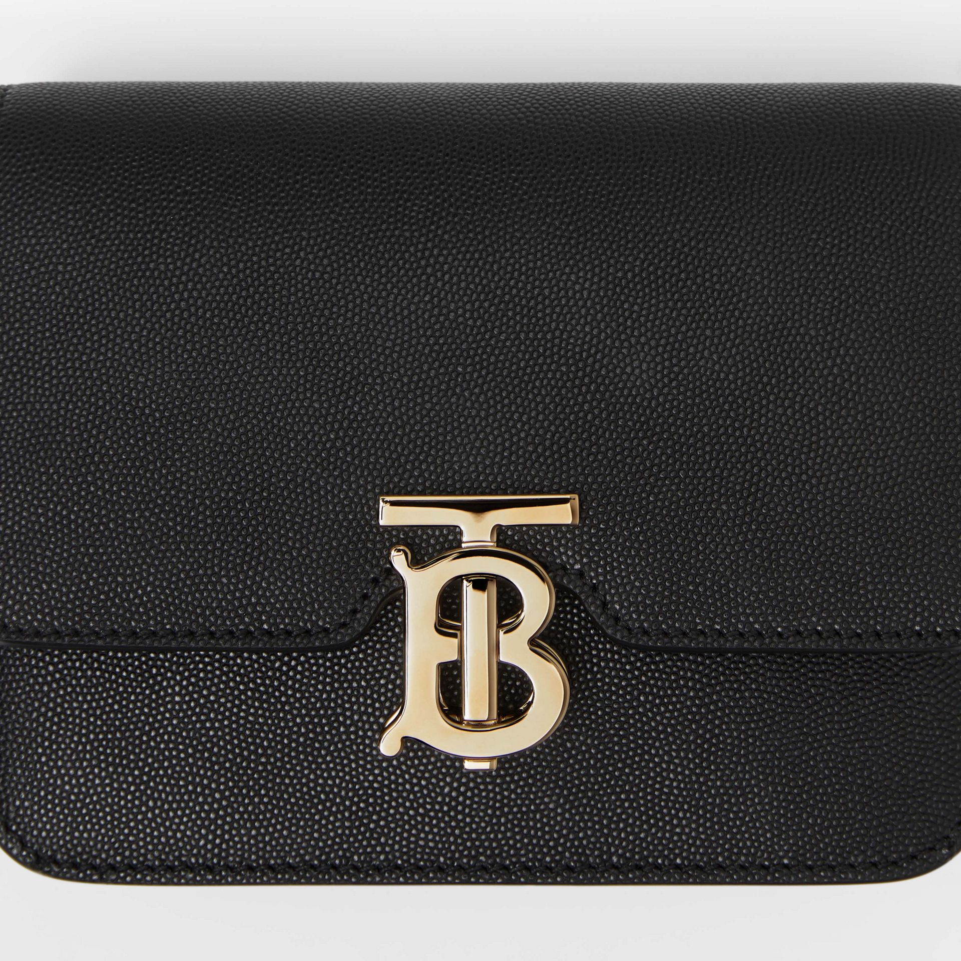 Mini Grainy Leather TB Bag in Black - Women | Burberry - gallery image 1