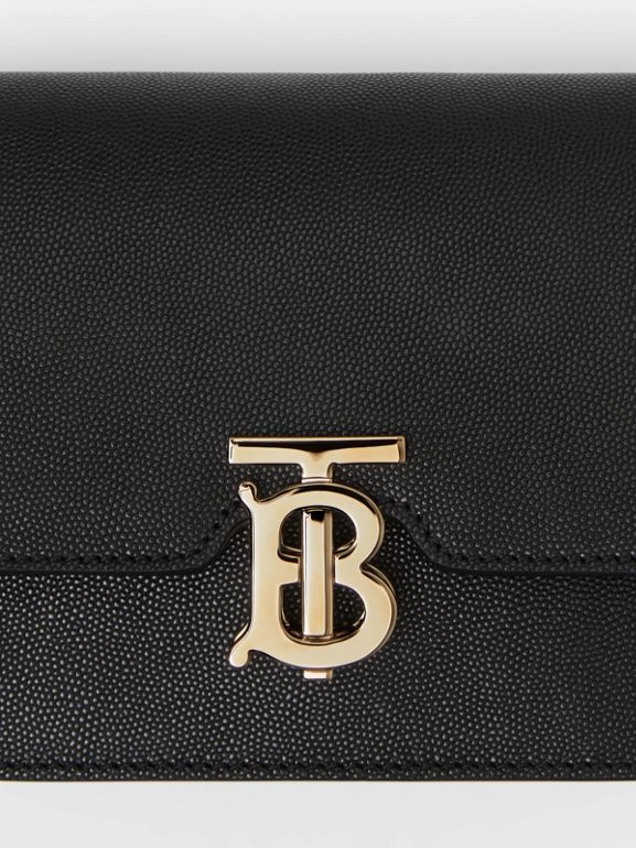 Mini Grainy Leather TB Bag in Black - Women | Burberry Canada - cell image 1