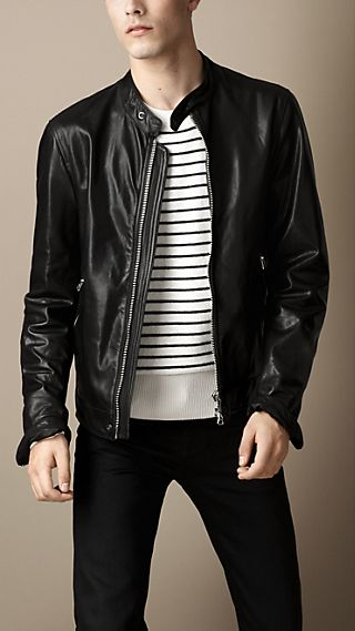 Soft Leather Racer Jacket