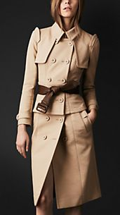 Trench coat con corsetto