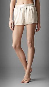Stretch-Silk Night Shorts