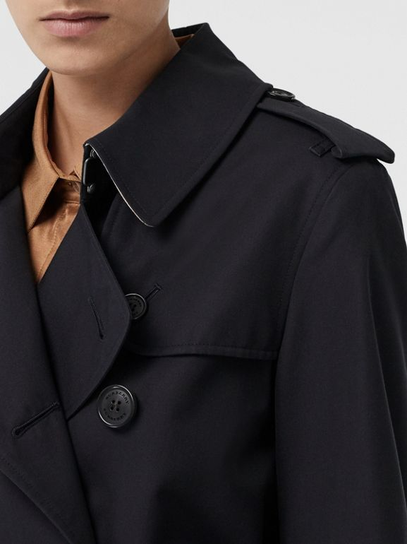 The Mid-length Kensington Heritage Trench Coat in Midnight | Burberry - cell image 1