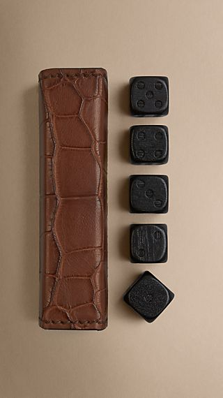 Alligator Leather Dice Set