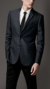 Slim Fit Wool Linen Jacket