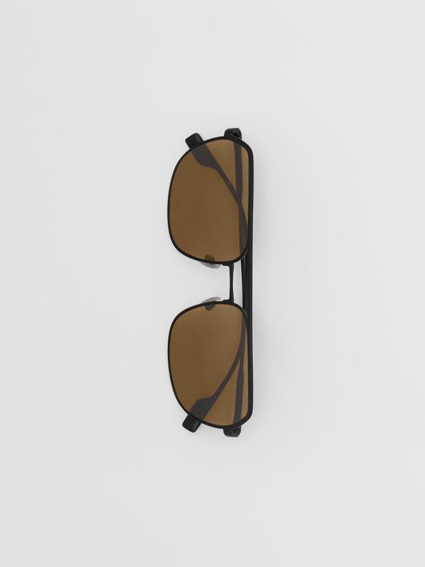 Óculos de sol com armação aviador quadrada - Homens | Burberry - cell image 3