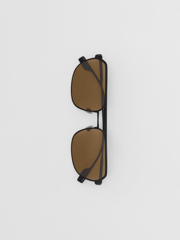 Square Pilot Sunglasses - Men | Burberry - cell image 3