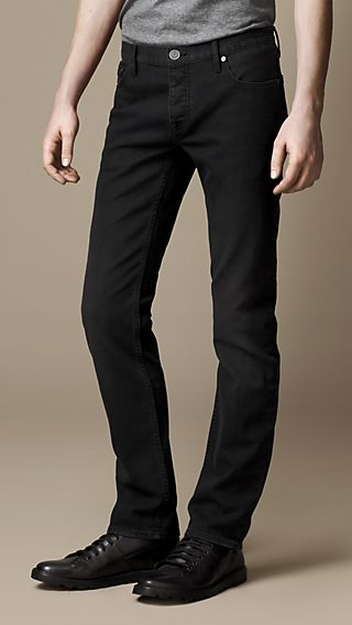 Steadman Black Sanded Slim Fit Jeans