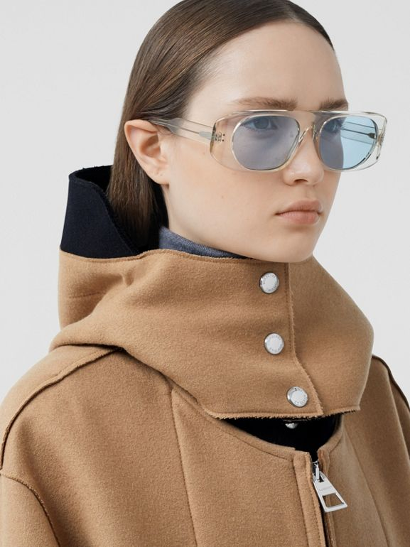 Logo Appliqué Technical Wool Hooded Parka - Women | Burberry United Kingdom - cell image 1