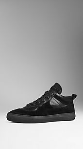 Sneaker brogue in pelle scamosciata
