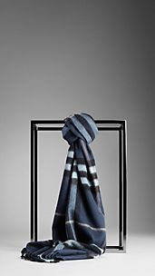 Check Silk Cotton Scarf