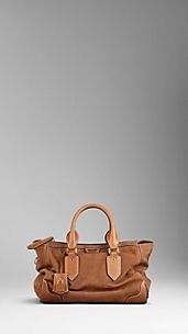 Large Bold Stitch Nubuck Tote Bag
