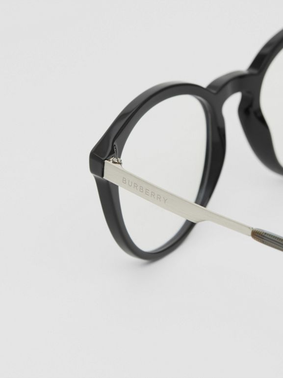 Round Optical Frames in Black - Men | Burberry - cell image 1