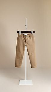 Skinny Fit Cotton Linen Chinos