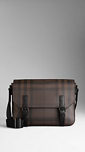 Small Smoked Check Messenger Bag