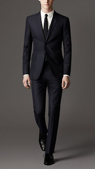 Modern Fit Cotton Pinstripe Suit