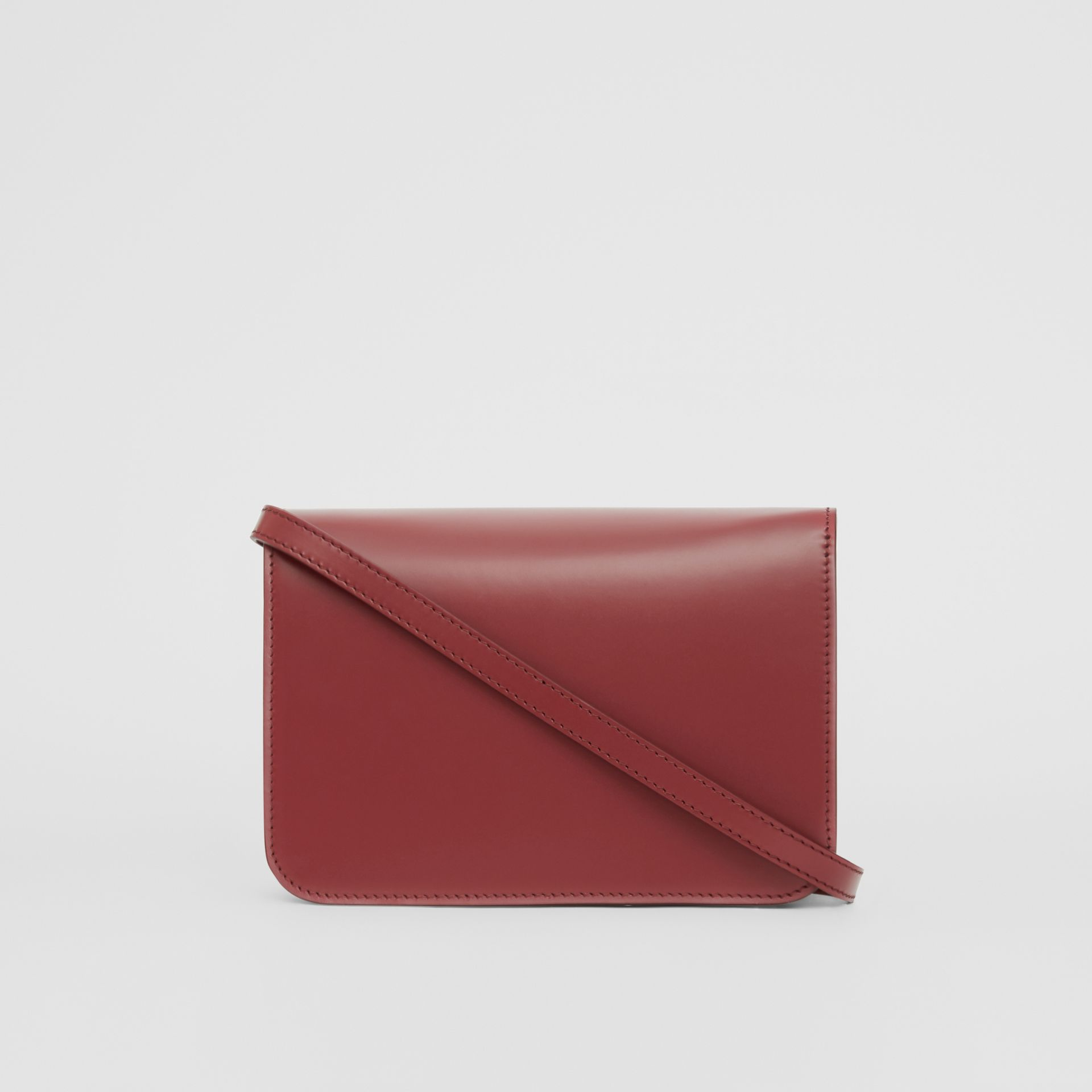 Small Leather TB Bag in Crimson - Women | Burberry Singapore - gallery image 7