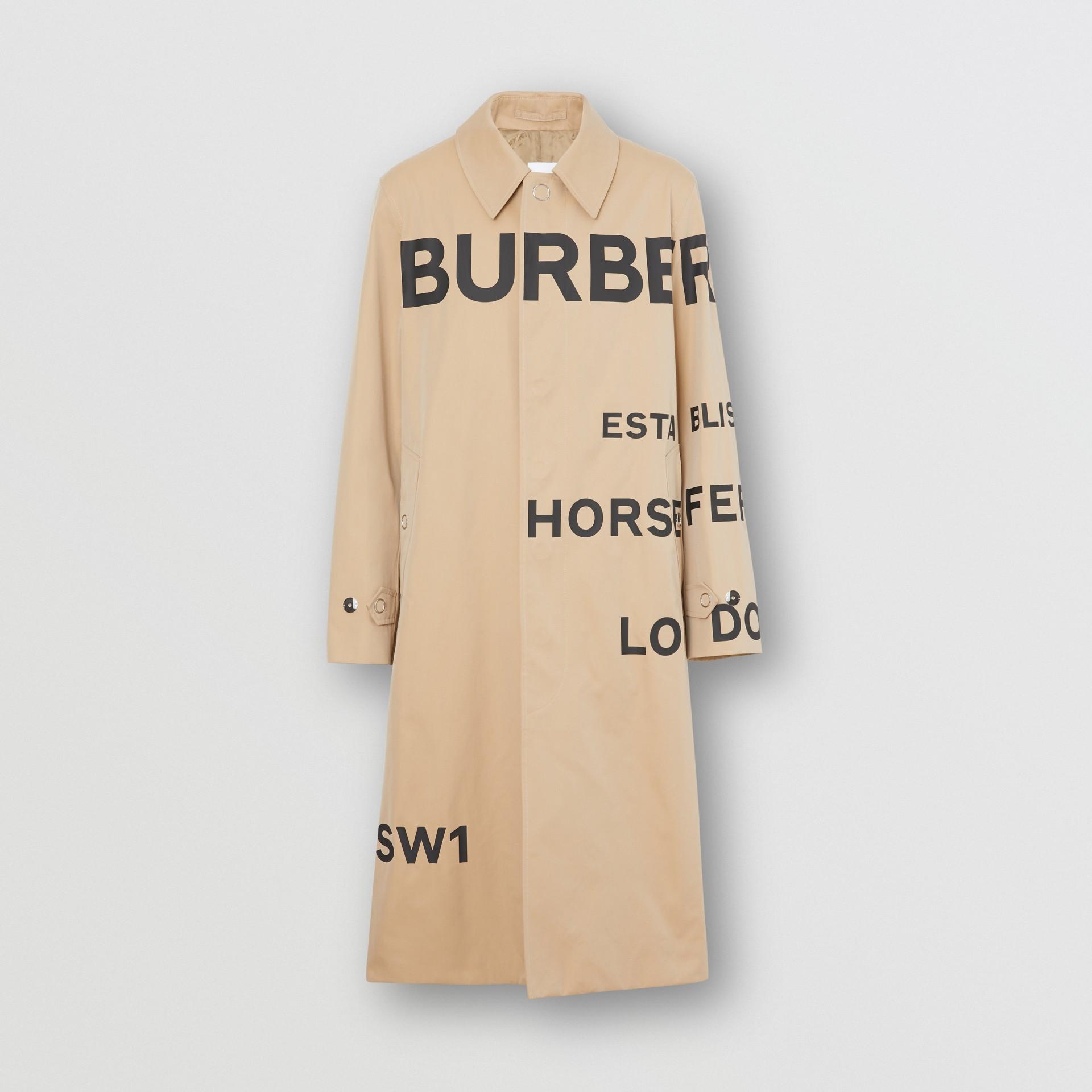 Kurzmantel aus Baumwollgabardine mit Horseferry-Aufdruck (Honiggelb) - Herren | Burberry - Galerie-Bild 3