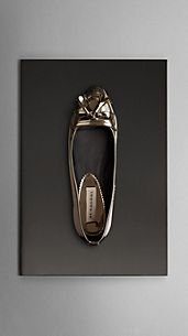 Metallic Leather Tassel Ballerinas