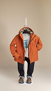 Check-Lined Hooded Blouson