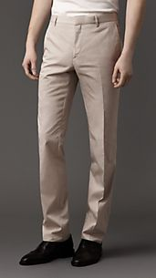 Modern Fit Parachute Cotton Trousers