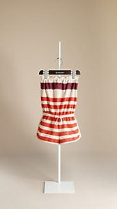 Striped Cotton Playsuit