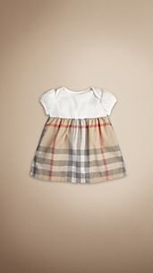 Kleid mit Check-Detail