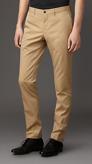 Slim Fit Cotton Gabardine Chinos