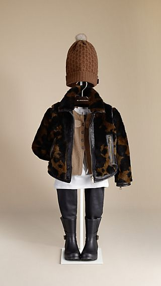 Animal Print Shearling Jacket