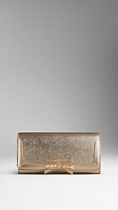 Brieftasche in Kontinentalformat aus Metallic-London-Leder