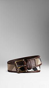 Vintage Washed Check Belt