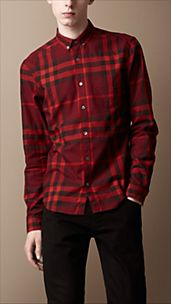 Exploded Check Cotton Shirt