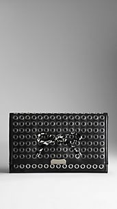 Metal Eyelet Clutch Bag