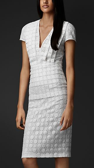 English Lace V-Neck Dress