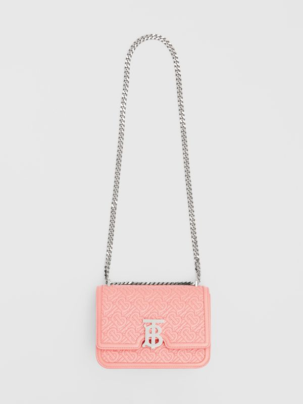 Small Quilted Monogram Lambskin TB Bag in Blush Pink - Women | Burberry - cell image 3