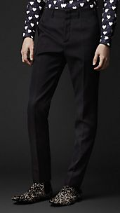 Tailored Wool Mohair Trousers