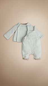 Velour Dungaree Set