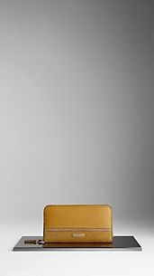 Colour Block Leather Ziparound Wallet