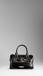 Medium Studded Bridle Leather Bowling Bag