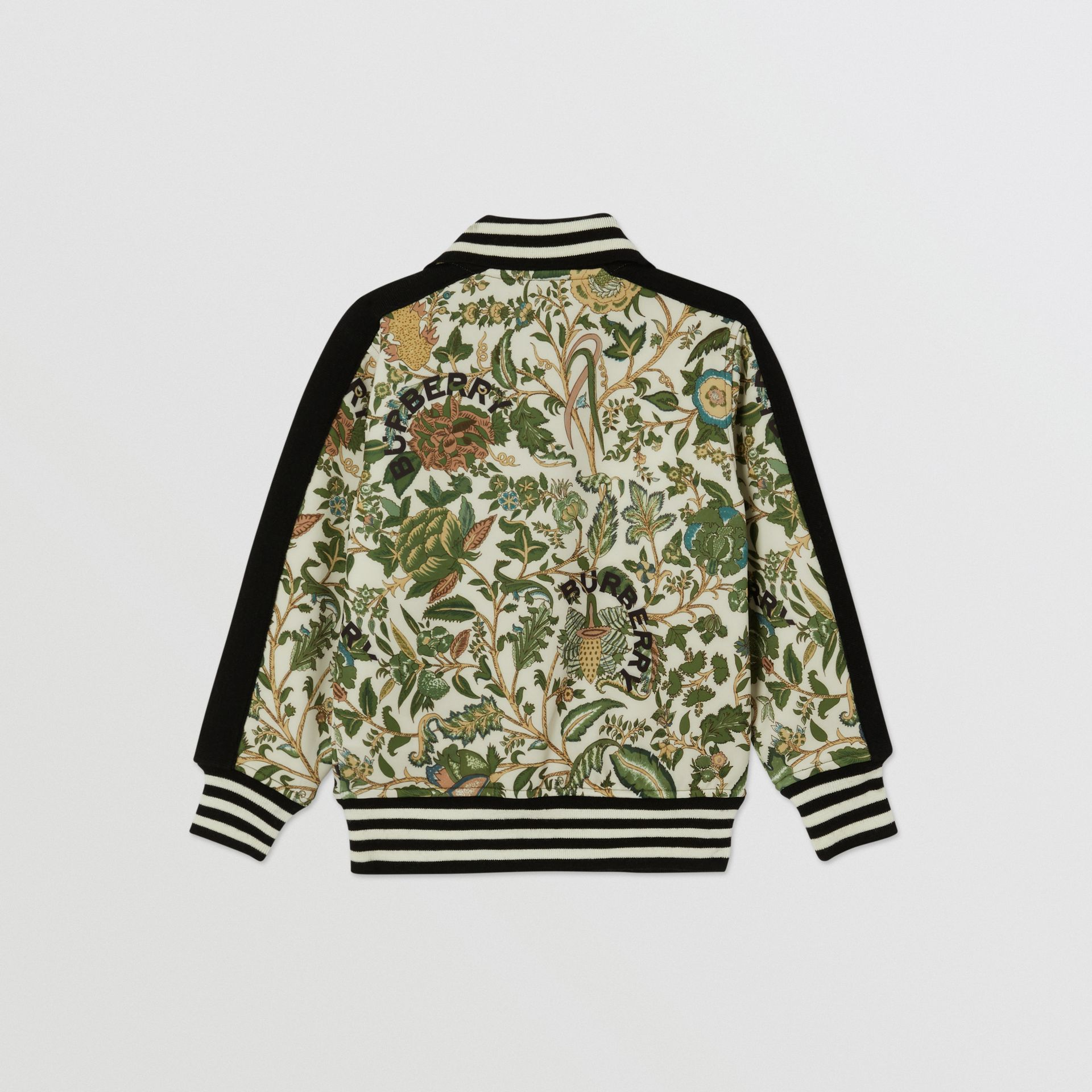 Botanical Print Neoprene Bomber Jacket in Olive | Burberry Hong Kong S.A.R - gallery image 4
