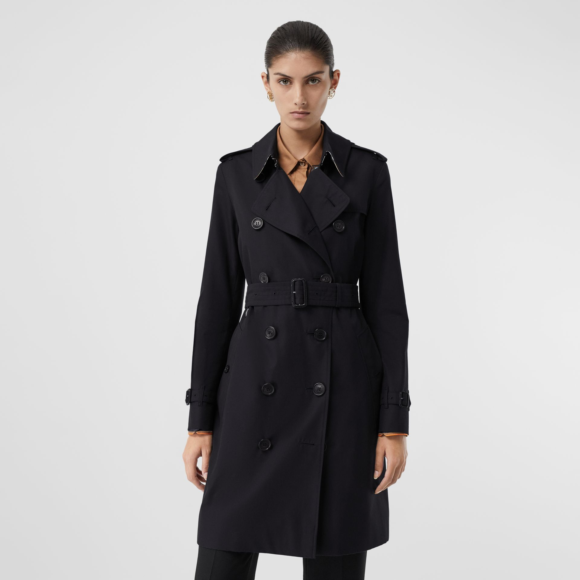 The Mid-length Kensington Heritage Trench Coat in Midnight | Burberry - gallery image 7